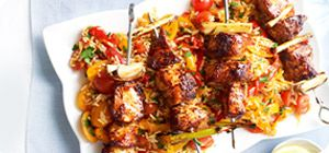 Lemongrass adds an zesty citrus taste and fragrance to these chicken skewers.