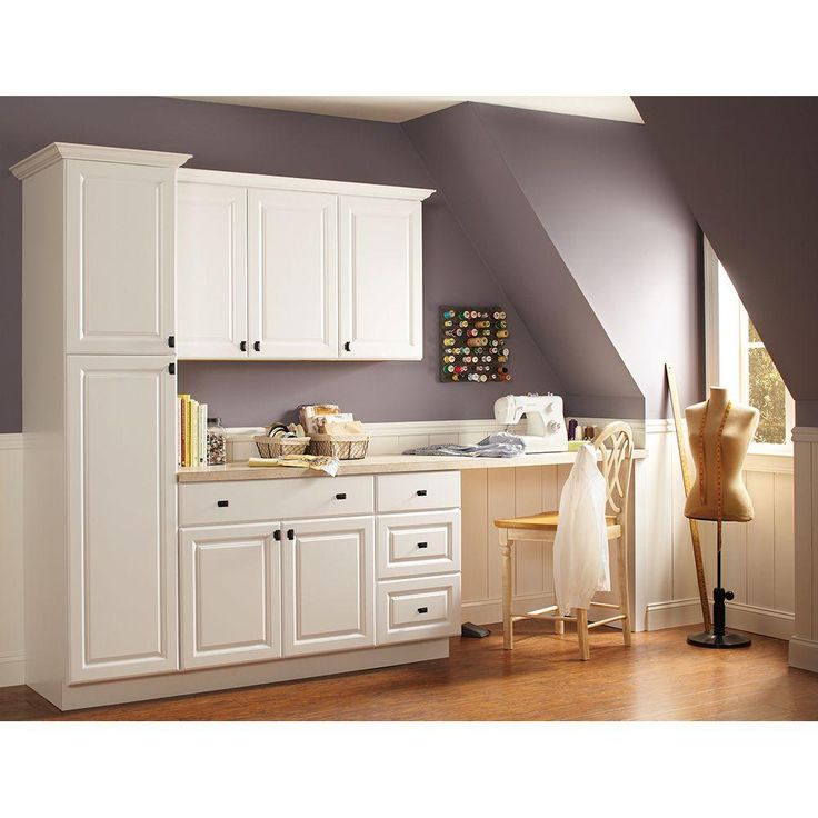 hampton bay 30x36x12 in hampton wall cabinet in satin white base cabinets crafts and home. Black Bedroom Furniture Sets. Home Design Ideas