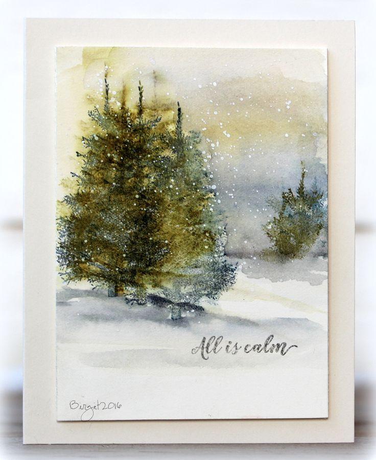 Папе день, новогодние открытки акварелью фото