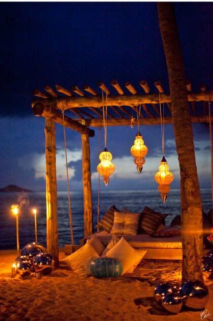 Boho beach night...