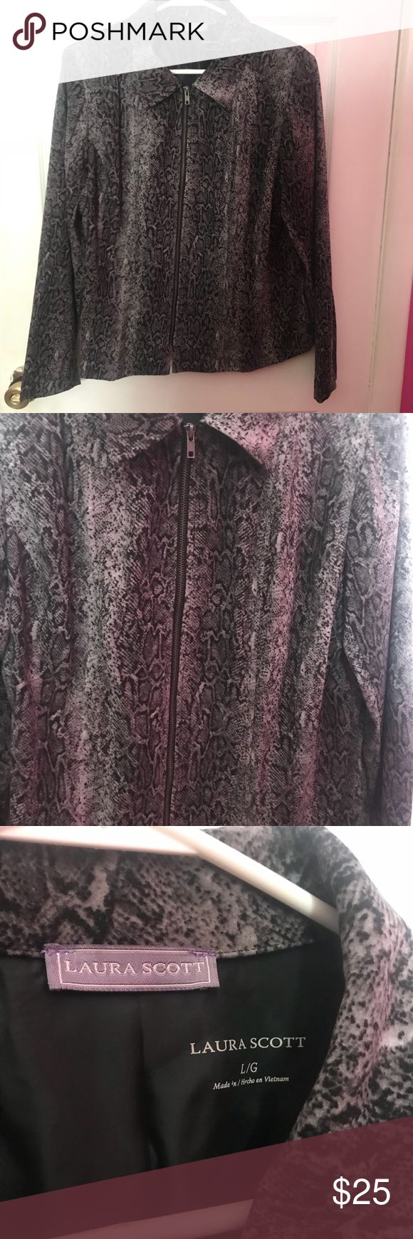 Laura Scott jacket Reptile print! Really nice and in great condition! Laura Scott Jackets & Coats