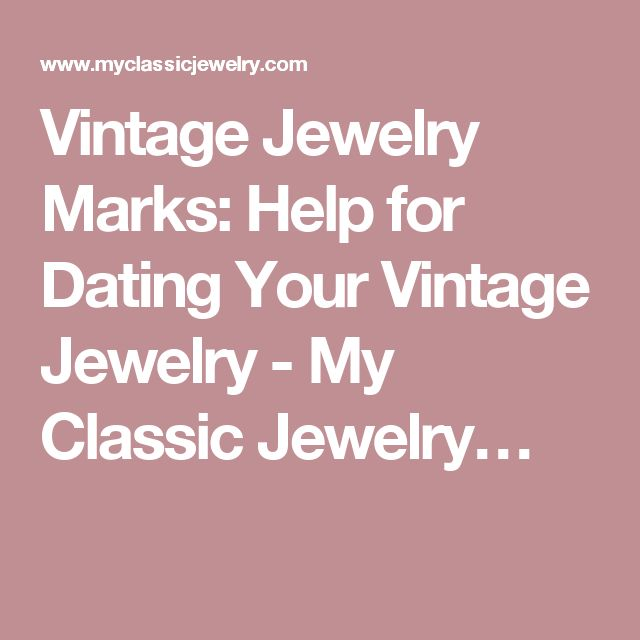 Dating Vintage Jewelry 115