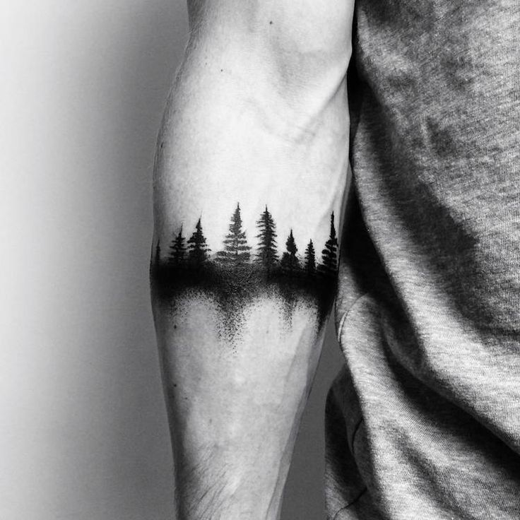 40 Creative Forest Tattoo Designs and Ideas – #Cre…