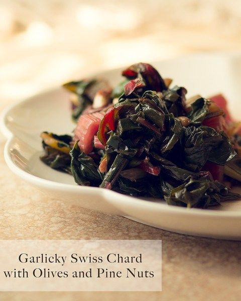 believe how good this Swiss chard is! Garlicky Swiss Chard with Olives ...