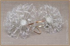 free photo tutorial, dandelion seed headband from silk ribbon