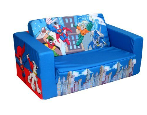 Sofa Slipcovers Warner Brothers DC Super Friends Mini Heroes Kids Flip Sofa for only You save