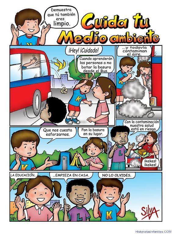 Cuidando el medio ambiente - mafalda historietas, historietas para niños, chistes graficos
