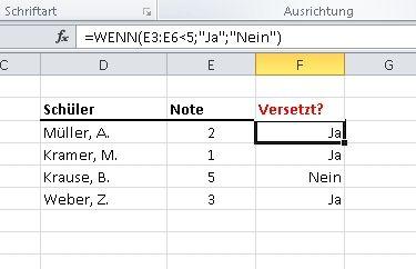 Die Wenn dann Funktion in Excel kann als Ergebnis Berechnungen anstellen oder auch Text ausgeben