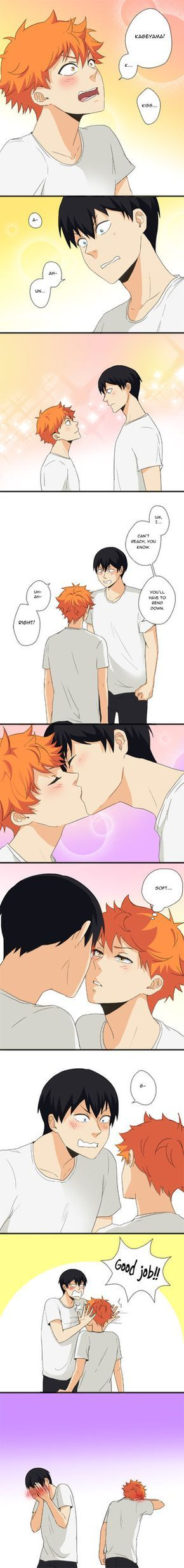 KageHina - First Kiss by Amanduur.deviantart.com on @DeviantArt