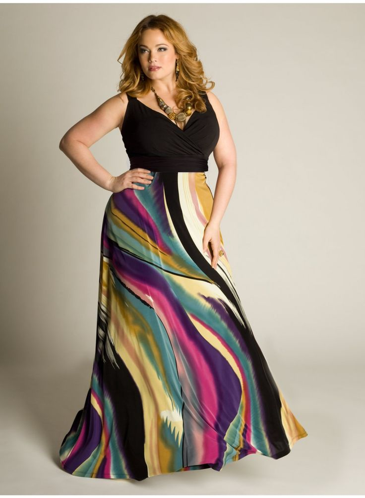 IGIGI- Maxi Dress. Great site for curvy girls.