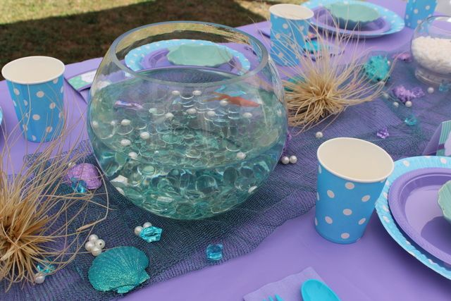 92 best images about little mermaid party on pinterest for Little mermaid fish tank decor