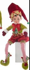 """Katherine's Collection 27"""" Noel Cirque Poseable Christmas Elf Doll Red Hat"""