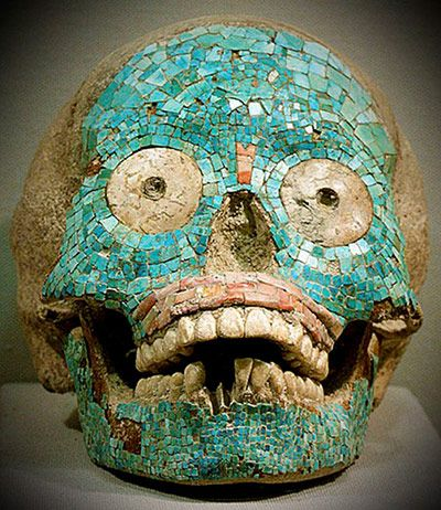 skull, found in the state of Oaxaca, belongs to the Zapotec culture. Traces have been found of the civilisation that are up to 2,500 years old