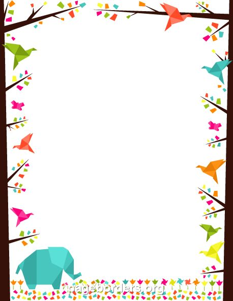 Printable Origami Border. Use The Border In Microsoft Word Or Other  Programs For Creating Flyers