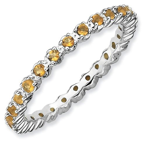 Sterling Silver Stackable Expressions Eternity Citrine Ring for $59.97