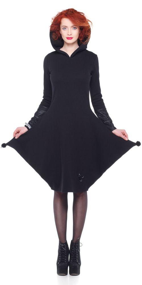 Rochie WY, jerse negru