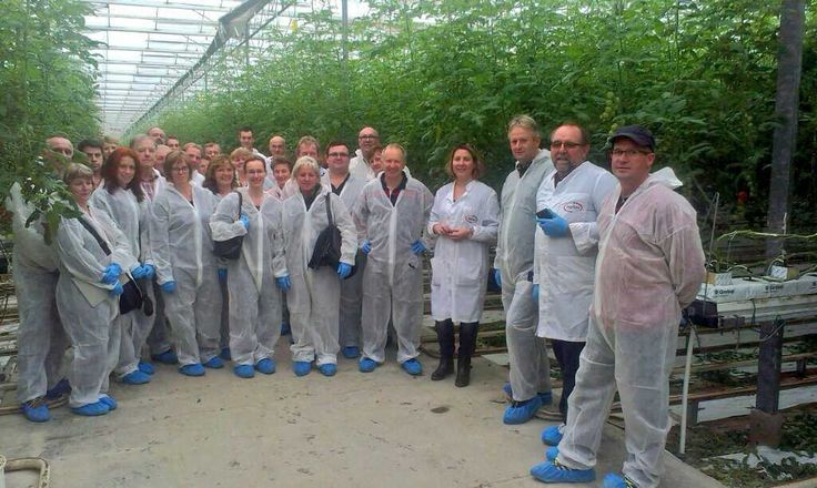 Growers tour from Austria, Romania and Czech Republic in Agritex, explaining our holistic IPM strategy
