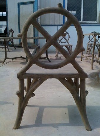 Faux Bois Chair Designed By Colvin And Hastings Designs.  #Colvin_and_Hastings #faux_bois #garden