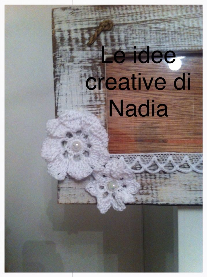 Cornice shabby chic. Facebook: Le idee creative di Nadia