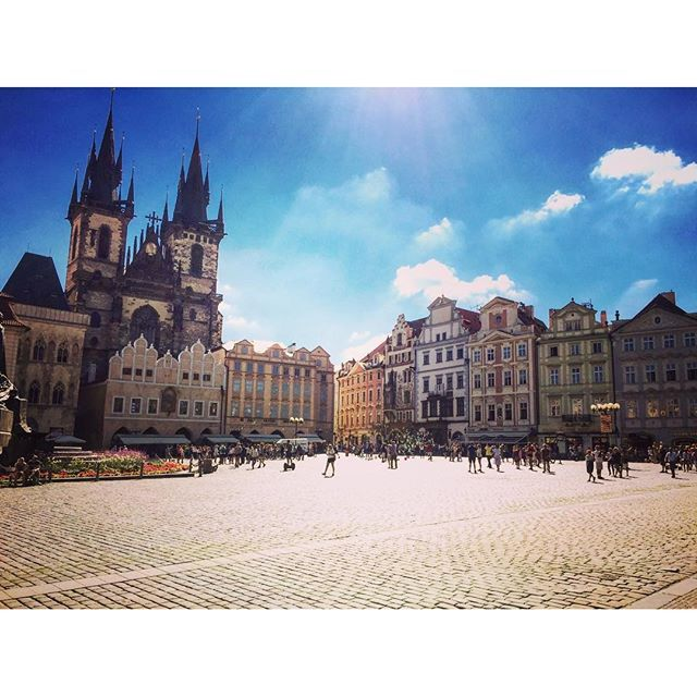 Walking tour in Prague? ... Czech.  Beautiful weather? ... Czech. Spending two weeks on a study tour of Central & Eastern Europe?... Priceless.