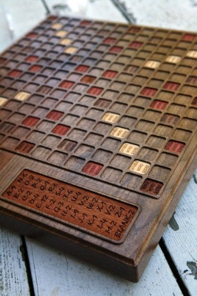 Custom Made Custom Walnut Scrabble Board