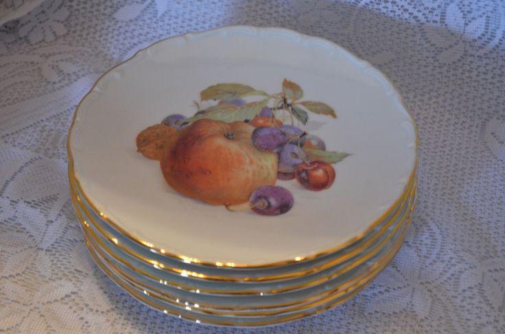 Bavaria Schumann Arzberg Germany Fruit Plates Lot of 6 #Schumann