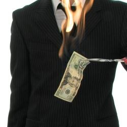 Burn your Money - rubbing alcohol, water, tongs, fire extinguisher
