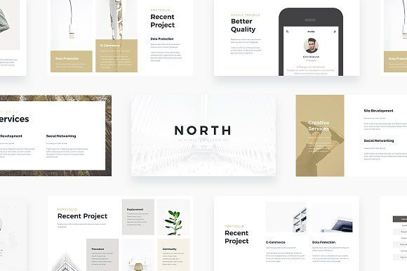 NORTH - Powerpoint Template by Qiudes on @creativemarket