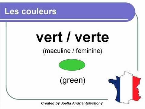 French lesson 2 - Les couleurs (Colors in French) - Los colores Cursos Clases de Frances