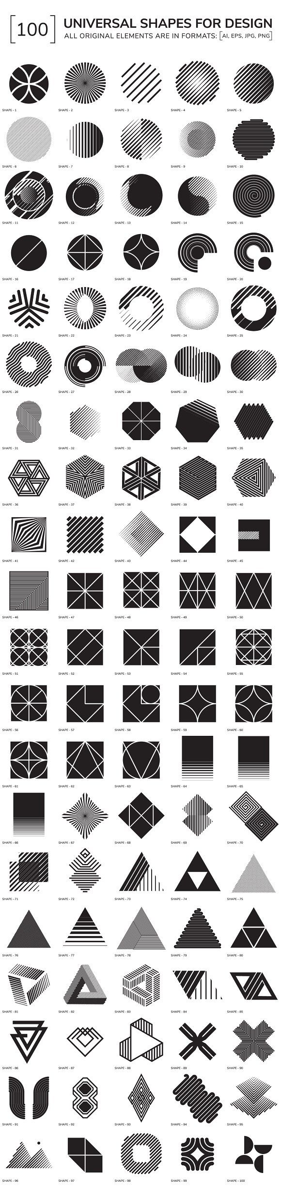 Posted in misc designs - 100 Geometric Shapes