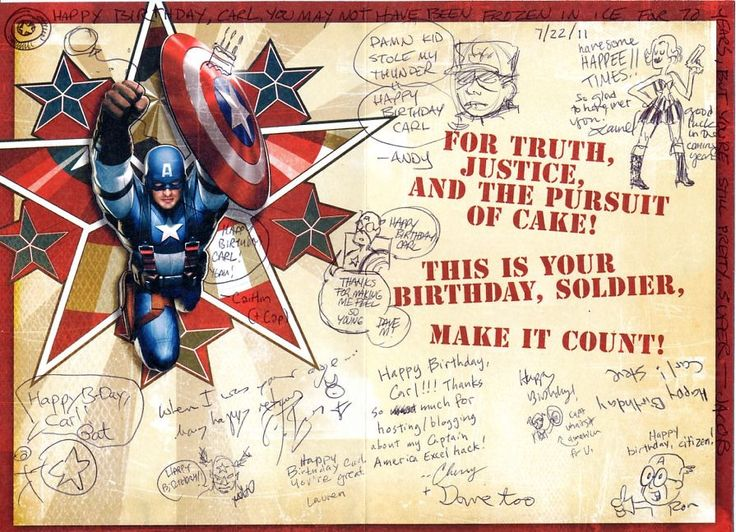 captain america birthday cards When BCR people get together at