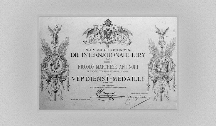 Niccolo', che è anche presidente dell'Accademia delle Arti, vince alla Fiera Mondiale di Vienna un diploma di merito per il vino che produce nelle sue quattro tenute vinicole in Toscana.