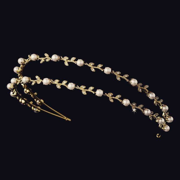 """The Kiera"" Crystal & Pearl Bridal Headband"