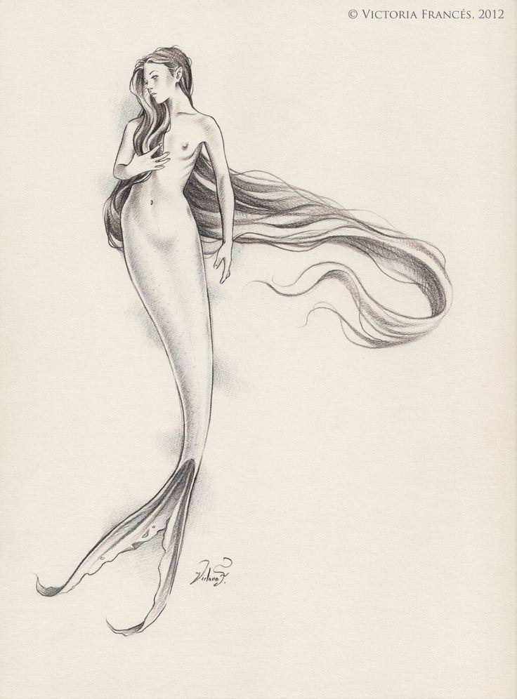 El lamento del Oceano dibujo By Victoria Frances