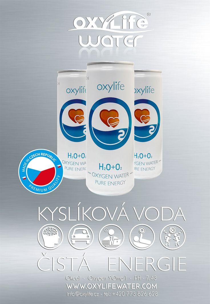 Kyslikova voda Oxylife water. Oxygen water for your body and mind. Oxygen for your healthy life. Kyslik pro vas zdravy zivot