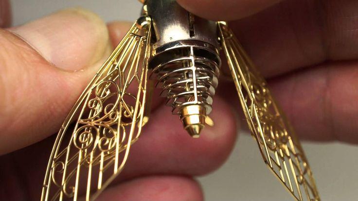 Kinetic art, a mechanical cicada                                                                                                                                                                                 More