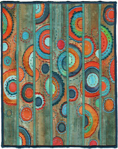 Patina, contemporary abstract textile by Kirsten Chursinoff