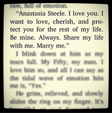 Fifty Shades Of Grey Christian Grey Ana Steele Quote Love Marriage Cute Marry Me