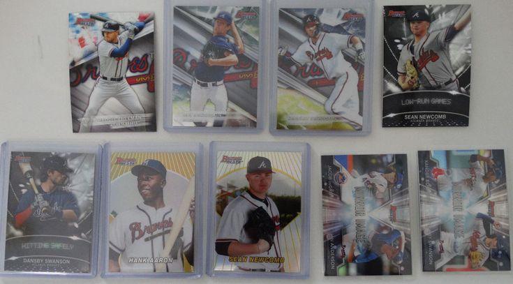 2016 Bowman's Best Atlanta Braves Team Set 9 Baseball Cards With Inserts #BowmansBest #AtlantaBraves