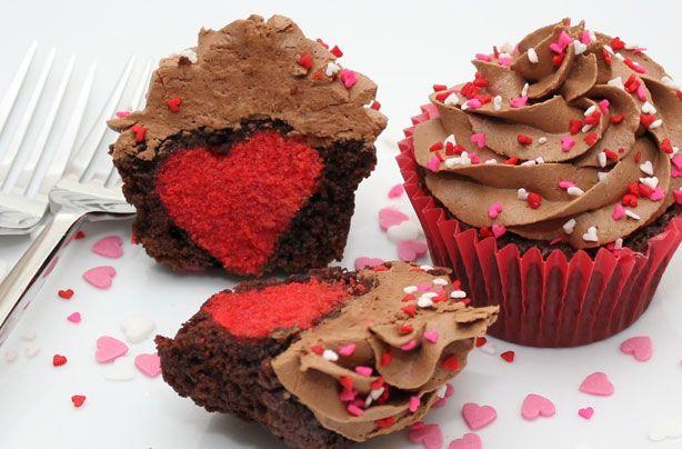 Hidden heart cupcakes recipe - Recipes - goodtoknow