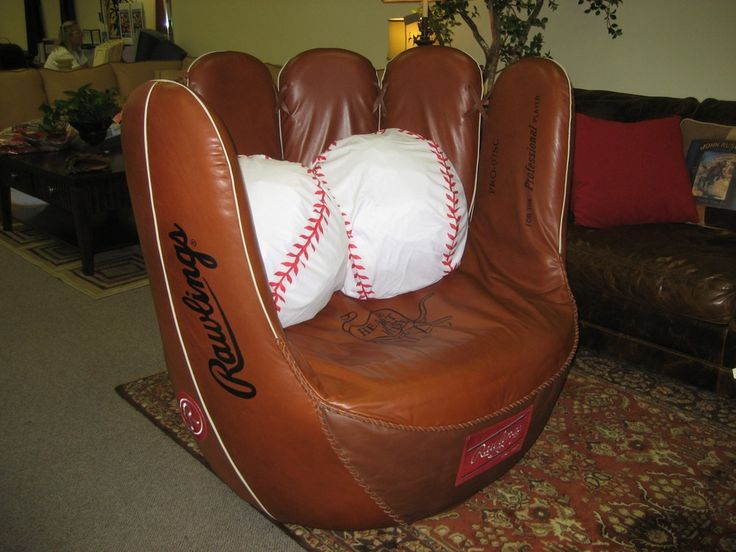 1000 ideas about baseball gloves on pinterest softball Baseball sofa