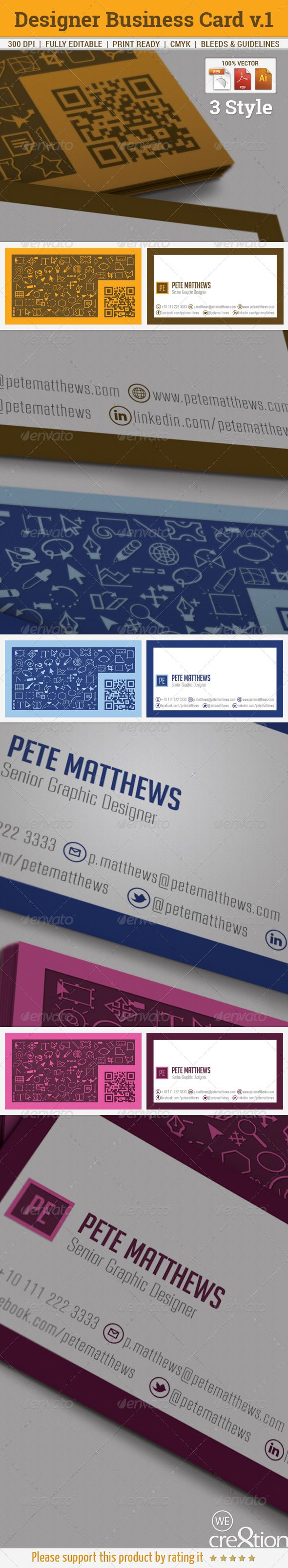 This is a complete #print ready #Business #Card #Clean and #modern style look. suitable for #Creative #Designer.  #brand #branding #corporate #creative #design #elegant #identity #professional #stationery