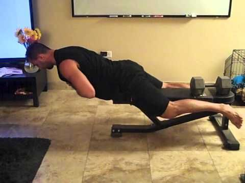 How to Do Back Extensions Off of a Standard Bench: Bret Contreras, The Glute Guy