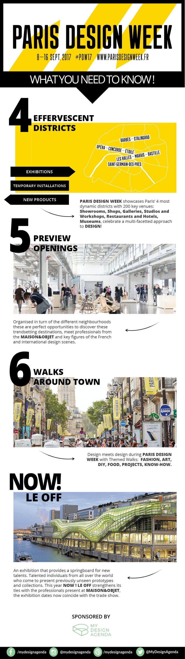 Paris Design Week 2017 will take place from September 8 to 16, with an energetic program that encompasses 4 different districts, 6 themed walks, a series of debates and at least 100,000 visitors. The perfect opportunity to get to know the latest decor trends and to see things from another perception.