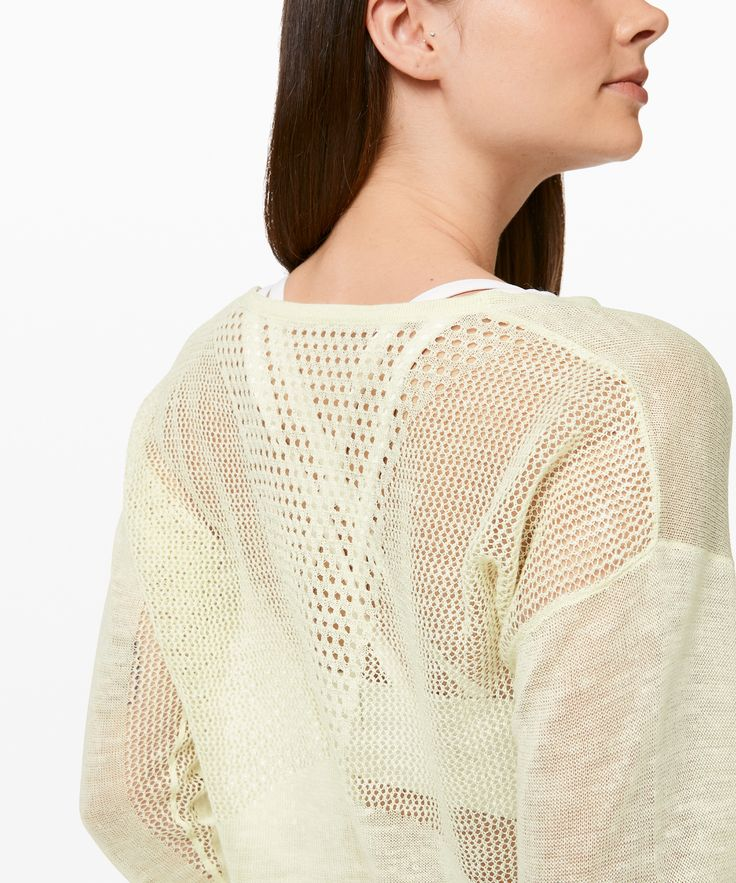 lululemon Women's Still Movement Sweater Linen, Elixir, Size 12