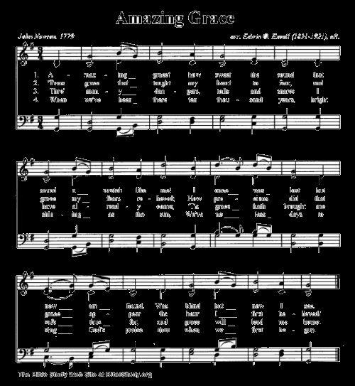 amazing grace sheet music pdf