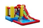 Jump  Splash Adventure Wet  Dry hire for just $120 for the day.    Because it is wet and dry water slide! It will be great for both summer and winter.     In summer just connect up the hose and you have a water slide with a paddling pool at the bottom.  In winter just add balls and you have a great slide into a ball pit.      Dimensions:  5.2m L x 3.0m W x 1.9m H   Maximum age of children: 5 years   Maximum number of children: 3.     Suitable for smaller Birthday Parties.