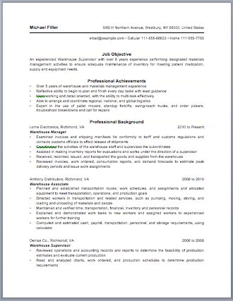 156 best Resume \/ Job images on Pinterest Resume examples, Free - warehouse manager resume