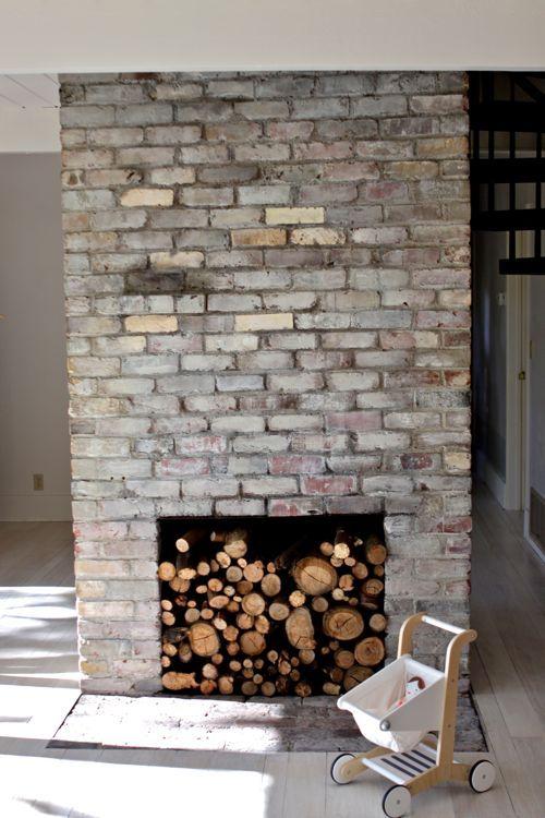 "How to Whitewash Bricks - using natural paint that let's the bricks ""breathe""     Design Mom"