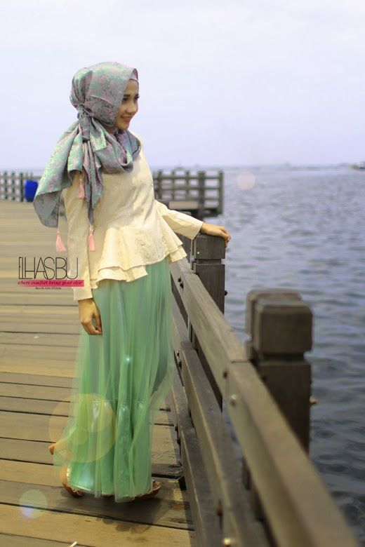 mint dress for the simple hijab #hijab#muslimah
